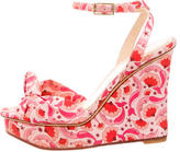 Charlotte Olympia Printed Wedge Sandals