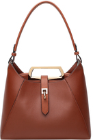 Brown Shoulder Bag & Cosmetic Pouch