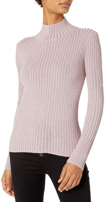 Rebecca Taylor Women's Lurex Rib Turtleneck Pullover