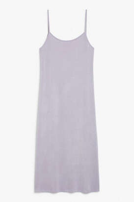 Monki Fine knit spaghetti strap dress