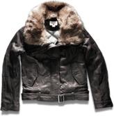Converse Women's Fur Trim Leather Jacket