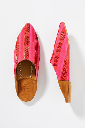 Maisie Embellished Mules By Llani in Blue Size 37