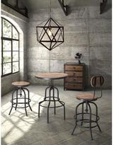 ZUO Twin Peaks Distressed Natural Adjustable Pub/Bar Table