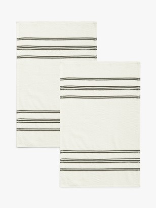 John Lewis & Partners Professional Hand Tea Towels, Pack of 2, Natural