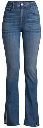3x1 Slim-Fit High-Rise Split Seam Bootcut Jeans