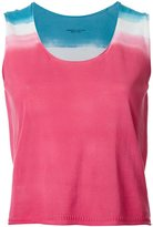 Roberto Collina tri-tone knit tank - women - Cotton - XS