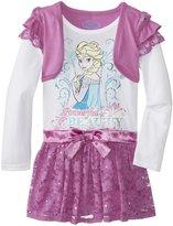 Disney Little Girls' Elsa Knit Dress