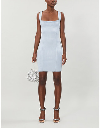 Selfridges Alaia stretch-knit mini dress