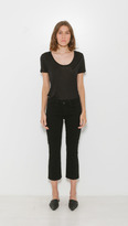 L'Agence Charlotte Mid Rise Crop Flare