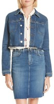 L'Agence Women's Zuma Raw Hem Crop Denim Jacket