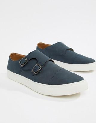 New Look monk shoes in navy