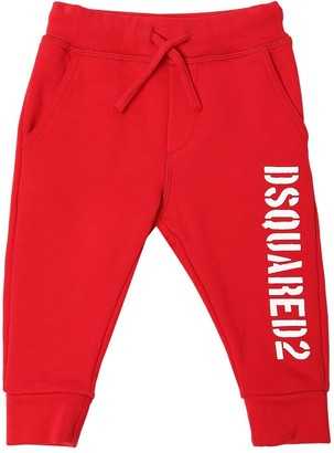 DSQUARED2 Logo Printed Cotton Sweatpants