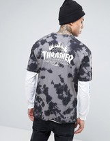 Huf X Thrasher Tie-dye T-shirt With Back Print