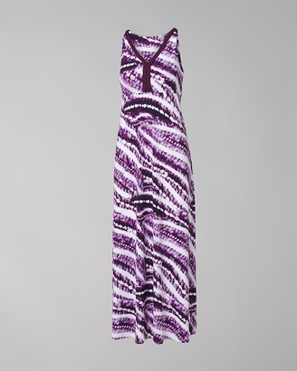 Soma Intimates Braided V-Neck Maxi Dress with Built-In Bra