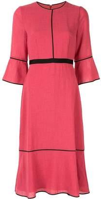 Cefinn lined detail textured dress