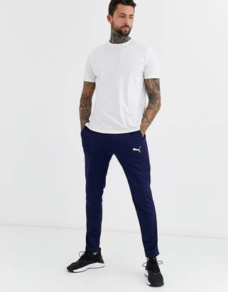 Puma Football joggers in navy exclusive to ASOS