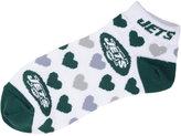 For Bare Feet Women's New York Jets Heart Logo Repeat Socks