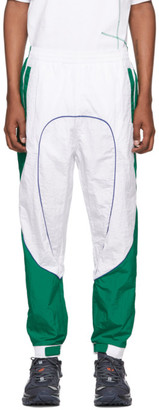 Li-Ning White and Green Track Pants