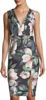 Alberto Makali Floral-Print V-Neck Dress