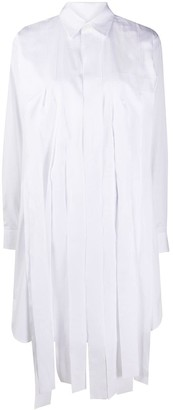 Comme des Garçons Comme des Garçons Long-Sleeved Fringed Shirt