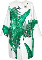 Dolce & Gabbana Banana leaf-print embellished coat