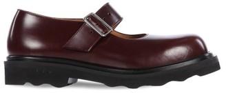 Marni Trek-sole Leather Mary Jane Shoes - Burgundy