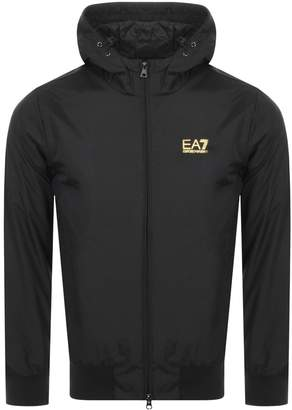 Emporio Armani Ea7 EA7 Hooded Logo Jacket Black