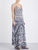 Camilla Small Town Hero silk wrap maxi dress