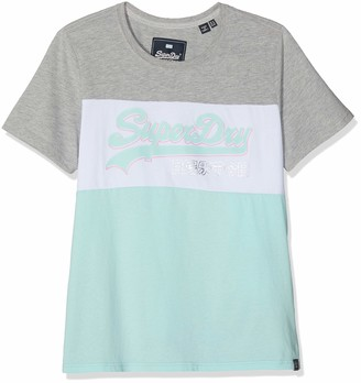 Superdry Women's Vintage Logo Colour Block Entry Tee T-Shirt