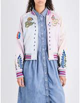 Diesel Ladies Embroidered Casual Absol Satin Jacket