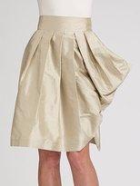 Silk Shantung Wrap Skirt