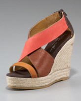 Bettye Muller Colorblock Espadrille Wedge