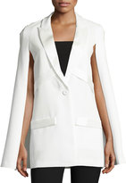 Elliatt Colosseum Tuxedo One-Button Cape, White