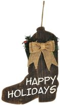 "St. Nicholas Square® ""Happy Holidays"" Wood Cowboy Boot Christmas Ornament"