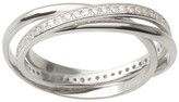 Journee Collection 1/2 CT. T.W. Round-cut Cubic Zirconia Interlocking Inlaid Set Ring in Sterling Silver - Silver