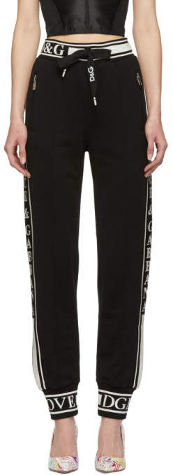 Dolce & Gabbana Black Logo Lounge Pants