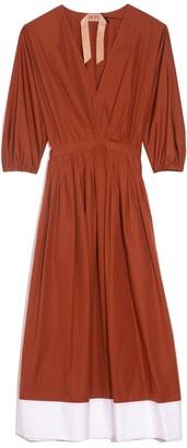 No.21 Cotton Midi Dress in Indian Sienna