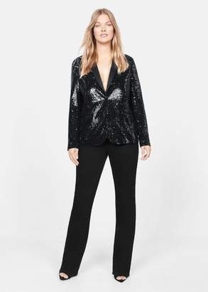 MANGO Sequins structured blazer