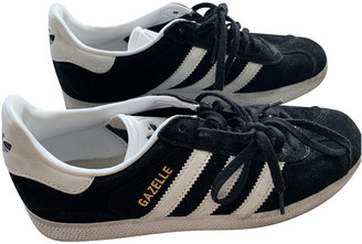 adidas Gazelle Black Suede Trainers
