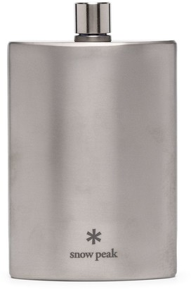 Snow Peak Logo Print Flask