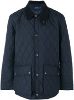 Ralph Lauren diamond-quilted jacket - men - Calf Leather/Nylon/Polyester - M