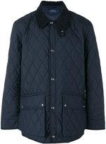 Ralph Lauren diamond-quilted jacket - men - Nylon/Polyester/Calf Leather - M