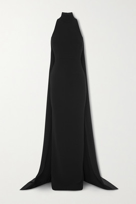 Alex Perry Langley Draped Crepe Gown - Black