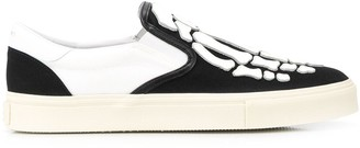 Amiri Skeleton Slip-On Sneakers