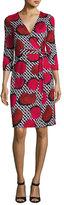Diane von Furstenberg New Julian Two Jersey Wrap Dress, Poppy Chain Rose