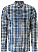 Denham Edged Check Shirt Tpl, Indigo