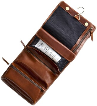 Vida Vida Hanging Tan Leather Wash Bag