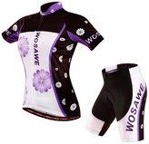 CA QLFAN Men's Women's Summer Short Sleeve Cycling Jersey Set Running Shirt Shorts Set