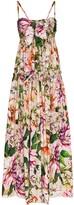 Dolce & Gabbana tie front floral maxi dress