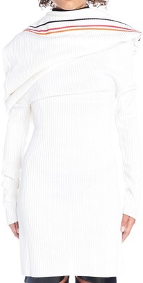 Y/Project Y / Project Off Shoulder Ribbed Stripe Dress